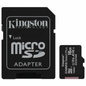 карта памяти microsdhc 16gb kingston canvas select plus,uhs-i u1,100 мб/с(class 10),адап, sdcs2/16gb