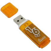 "память smart buy ""glossy""  16gb, usb 2.0 flash drive, оранжевый, sb16gbgs-or"