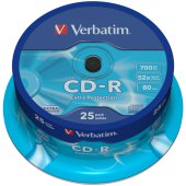 диск cd-r 700mb verbatim 52x cake box (25шт)