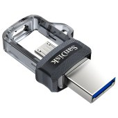 "память sandisk usb flash ""otg dual drive""  16gb, usb3.0/microusb, flash drive, черный"