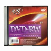 диск dvd-rw vs 4,7gb 4x slim case (1 штука), vsdvdrwsl01 (ш/к - 20809)