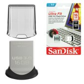 флэш-диск 16gb sandisk ultra fit usb 3.0, серебристый, sdcz43-016g-gam46