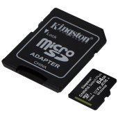 карта памяти kingston microsdhc 64gb uhs-i u1 canvas select plus, class 10 скорость чтения 100мб/сек