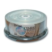 диски cd-r tdk 700mb 52х 25шт cake box cd-r80cba25 (ш/к-7675)