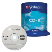 диски cd-r verbatim 700mb 52х 100шт cake box  43411