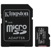карта памяти microsdxc 512gb kingston canvas select plus uhs-i u3,100 мб/с(cl.10),адапт, sdcs2/512gb