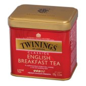 "чай twinings ""english breakfast"", черный, ж/б, 100г, f09010"