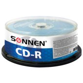 диски cd-r sonnen 700mb 52x cake box 50шт, 512570