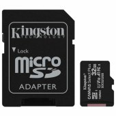карта памяти microsdhc 32gb kingston canvas select plus,uhs-i u1,100 мб/с(class 10),адап, sdcs2/32gb