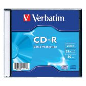 диск cd-r verbatim dl 700mb 52х slim case 43347 (ш/к-3477)
